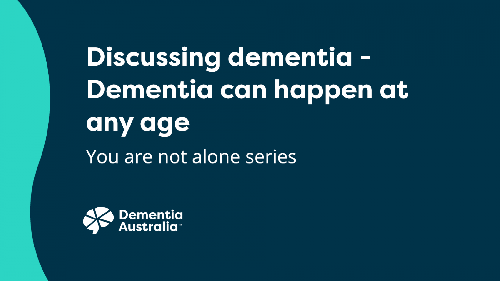 Dementia can happen at any age - Video Thumbnail